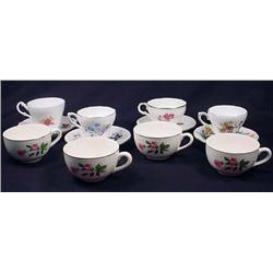 Lot Of 8 Vintage Cups And Saucers - 4 Cups Do Not