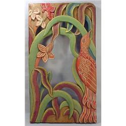 Color Carved Wooden Mirror Frame From Bali - Appro