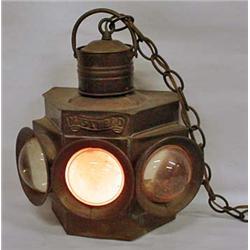 Antique Ship'S Lantern Converted To Electric Hangi
