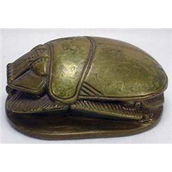 Antique Eqyptian Scarab W/ Hieroglyphic Base - Sol