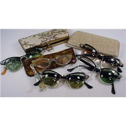 Lot Of Vintage Eye Glasses And Cases