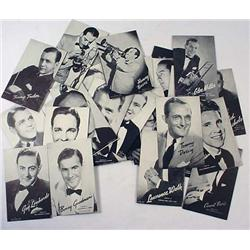 Lot Of Vintage Big Band Stars Postcards - Thicker
