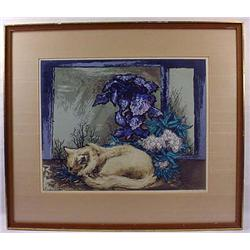 "1949 ""White Kitten"" Framed Print By Guy Maccoy - A"
