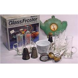Lot Of Misc. Kitchen Items - Incl. Glass, Enamelwa