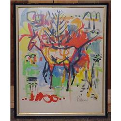 Original Abstract Painting - Framed - Approx. 20.5