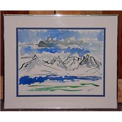 1979 Watercolor - Signed And Framed - Signed Hays.
