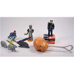 Lot Of Misc Treasures - Incl. Baby Rattle, Lead So