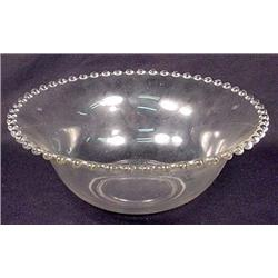Large Vintage Glass Candlewick Bowl - Approx. 9.75