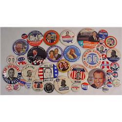 Large Lot Of Vintage Political Pinback Buttons - I