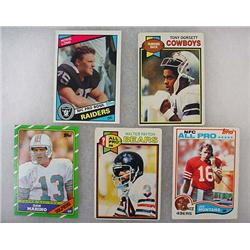 Lot Of 5 Vintage Topps Football Cards - All Stars