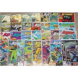 Large Lot Of Aquaman Comic Books