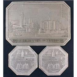 Lot Of 3 1933 Chicago World'S Fair Items - Looks L