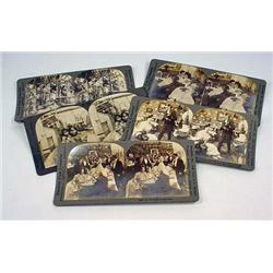 Lot Of 5 Antique Photo Stereoview Cards - Incl. Es