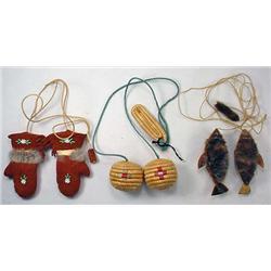 Lot Of 3 Vintage Eskimo Yo-Yo'S - Incl. Seal Fur,