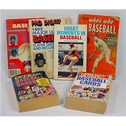 Lot Of Vintage Baseball Books - Incl. Record Books