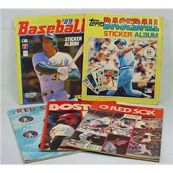 Lot Of Vintage Baseball Yearbooks And Sticker Book