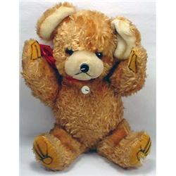 Vintage Teddy Bear W/ Radio Inside - Nose Is On/Of
