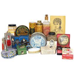 Beauty products (16), La Jean Hair Pomade w/Black graphics, Mogro Hair Straightener, Dermatol Cosmet