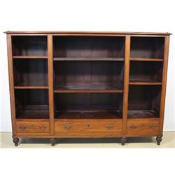 A Georgian Style Mahogany Three Part Bookcase with Drawers.