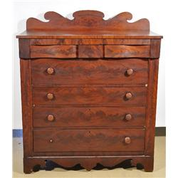 An American Mahogany Empire Chest of Drawers,