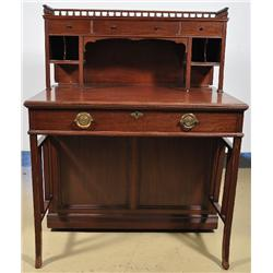 A 20th Century English Mahogany Desk.