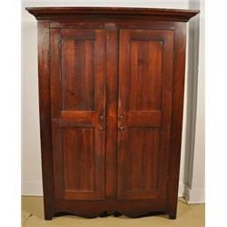 An American Walnut and Pine Cupboard