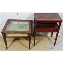 A Georgian Style Mahogany Display Side Table Together with A Mahogany Side Table,