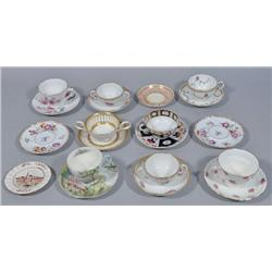 A Miscellaneous Collection of Continental Cups and Saucers.
