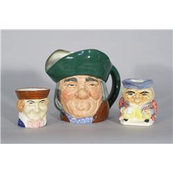 Three Toby Jugs, One Royal Doulton,