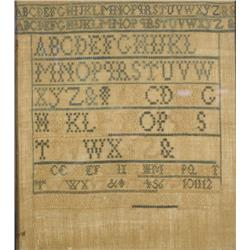 An Embroidered Sampler, dated 1883, by Margaret Hamilton,