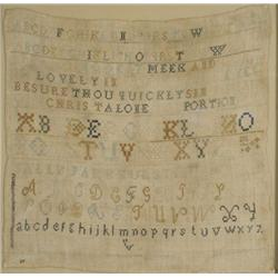 An Embroidered Sampler, 19th Century, by Sally Parkhurst,