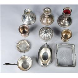 A Miscellaneous Collection of Sterling Silver.