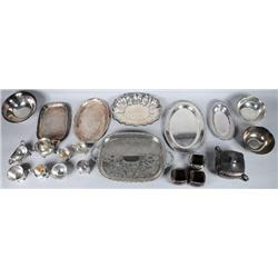 A Miscellaneous Collection of Silver Plated Serving Items.