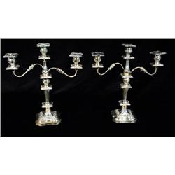 A Pair of Towle Silver Plated Candelabra.