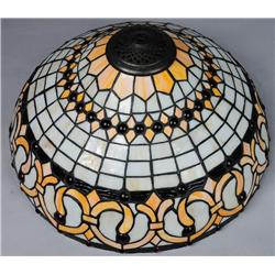 A 20th Century Slag Glass Lamp Shade,
