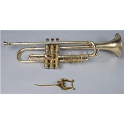 A Silver Plated Harry B. Jay Cornet,