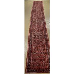 A Semi Antique Persian Hamadan Wool Runner.