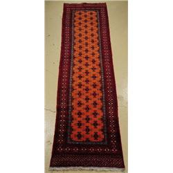 A Semi Antique Persian Turkoman Wool Runner.