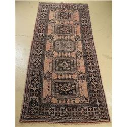 An Antique Turkish Oushak Wool Runner.