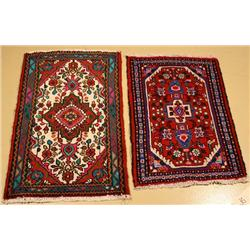 A Pair of Persian Hamadan Wool Rugs.
