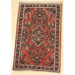 An Antique Persian Dargazine Wool Rug.