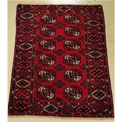 An Antique Turkoman Wool Rug.