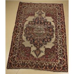 A ca. 1890 Antique Persian Kirman Wool Rug,