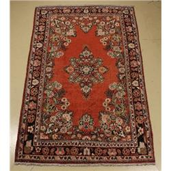 A Persian Mahal Wool Rug.