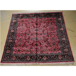 A Silk Kashmiri Rug.