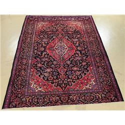 A Semi Antique Persian Kashan Wool Rug.