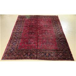 An Antique Persian Kashan Wool Rug.