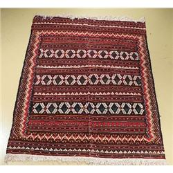 An Antique Turkish Kilim Wool Rug.
