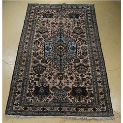 An Antique Persian Ardabil Mashkin Wool Rug.