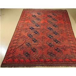 An Antique Afghan Turkoman Wool Rug.